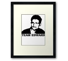 Team Edward Snowden Framed Print