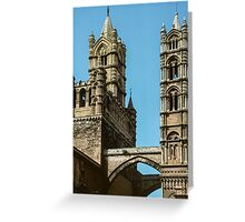 Street crossing for elite Duomo Palermo 198403240027 Greeting Card