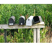 Empty Mailboxes Photographic Print
