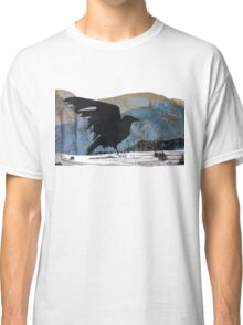 Something About Birds: Crow with White Feather Classic T-Shirt