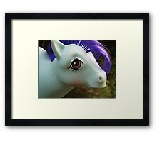 Pony Face Framed Print