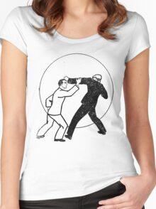 He's Got a Good Left! Women's Fitted Scoop T-Shirt