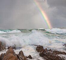 Rainbow over Yabarra Beach by TonySlattery