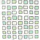 Sea Glass City Blocks by AwayLaughing