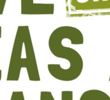 Give Organic Peas A Chance Sticker