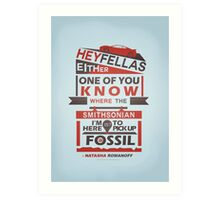 Fossils - Typography Art Print