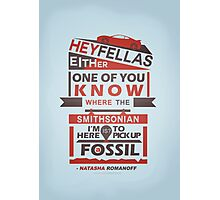 Fossils - Typography Photographic Print