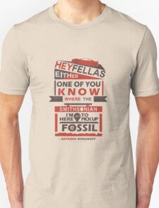 Fossils - Typography Unisex T-Shirt