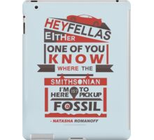 Fossils - Typography iPad Case/Skin