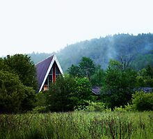 A-Frame at the Base of a Mountain by Nazareth
