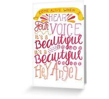 Hey Angel Greeting Card