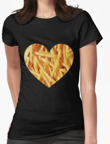 Fries Love Womens Fitted T-Shirt