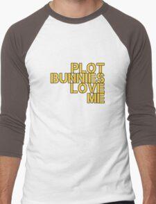 Plot Bunnies Love Me - Orange Men's Baseball ¾ T-Shirt