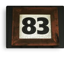 Number 83 Canvas Print