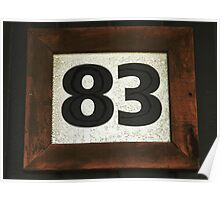 Number 83 Poster