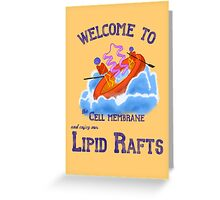 Lipid Raft Greeting Card
