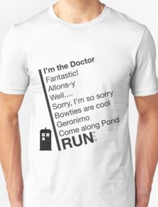 Catchphrases by the Doctor Unisex T-Shirt