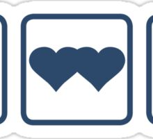 Peace DoubleHeart Tardis Sticker
