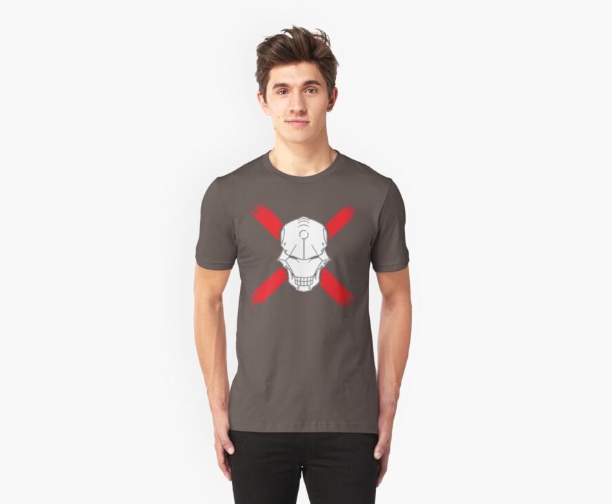 Cyborg Skull w/ Red X by vhkolb