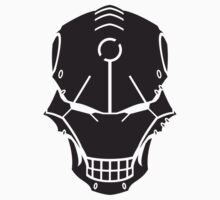 Cyborg Skull in Black by vhkolb