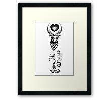 Louis Tomlinson Arm Tattoos Framed Print