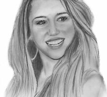 a miley cyrus drawing by ralphyboy