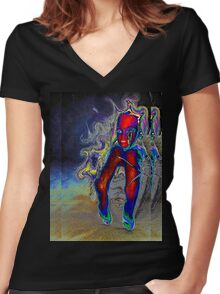 Nightmare Barbie Women's Fitted V-Neck T-Shirt