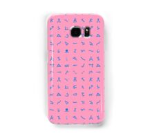 Chevron symbols texture in pink and blue Samsung Galaxy Case/Skin