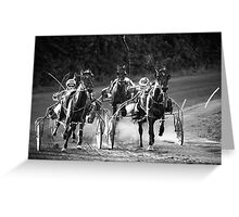 To The Finish! Greeting Card