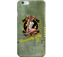 Piccadilly Lilly III Aircraft Nose Art Pin Up Girl iPhone Case/Skin