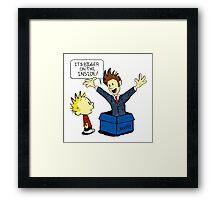 Calvin & Hobbes Doctor Who Framed Print
