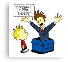Calvin & Hobbes Doctor Who Canvas Print