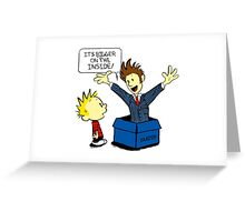 Calvin & Hobbes Doctor Who Greeting Card