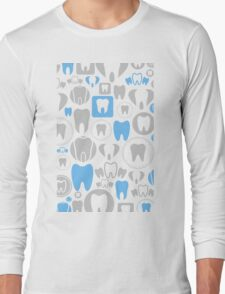 Tooth a background Long Sleeve T-Shirt