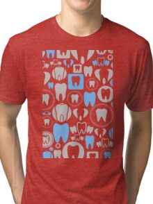 Tooth a background Tri-blend T-Shirt