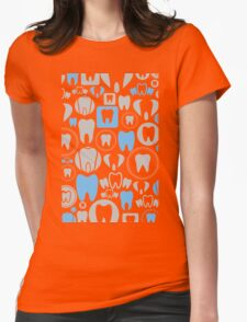 Tooth a background Womens Fitted T-Shirt