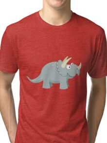 Trikey the Triceratops Tri-blend T-Shirt
