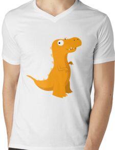 Rexy the T-Rex Mens V-Neck T-Shirt