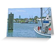 Ocracoke Harbor Greeting Card