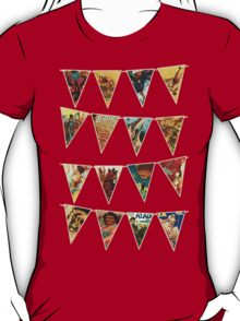 vintage circus bunting flags polks dots T-Shirt