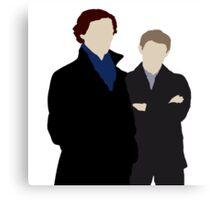 Sherlock and John Canvas Print