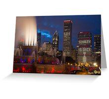 2013 Chicago Blackhawks Skyline Greeting Card