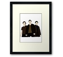 Supernatural- Sam,Dean and Castiel Framed Print