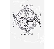Knotwork Celtic Cross Photographic Print
