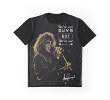 Rocker singing stylish poster on black background Graphic T-Shirt