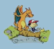 Calvin and Hobbes Pokemon by Aquilius