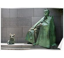 Country's Best Friend - FDR and Fala Poster