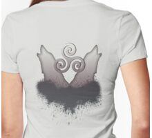 Howling Wolf Triskele Womens Fitted T-Shirt