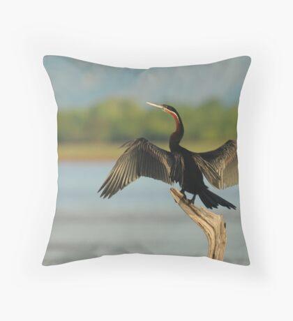 African Darter Throw Pillow