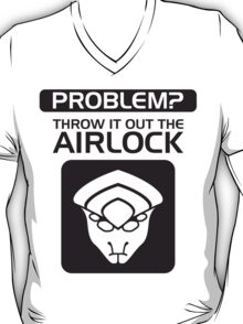 Throw it Out the Airlock in Black T-Shirt